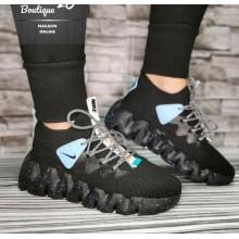 Sneakers  Cod 401 Negru Bleu
